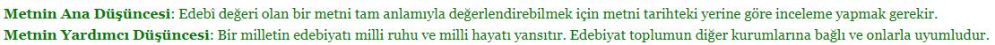 10. Sınıf Türk Dili ve Edebiyatı Ders Kitabı MEB Yayıncılık Sayfa 15 Ders Kitabı Cevapları