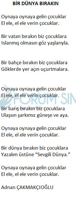 2. Sınıf Türkçe Ders Kitabı KOZA Yayıncılık Sayfa 123 Ders Kitabı Cevapları