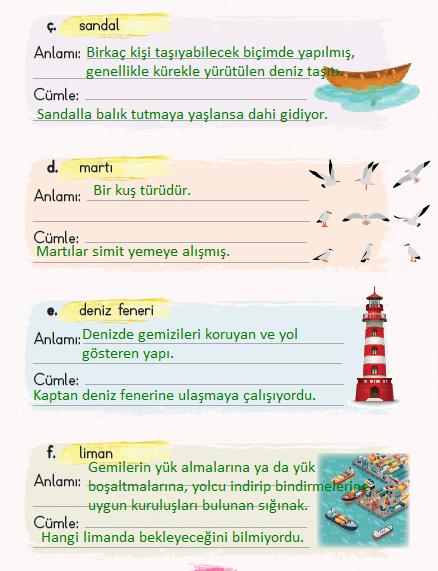 2. Sınıf Türkçe Ders Kitabı KOZA Yayıncılık Sayfa 147 Ders Kitabı Cevapları
