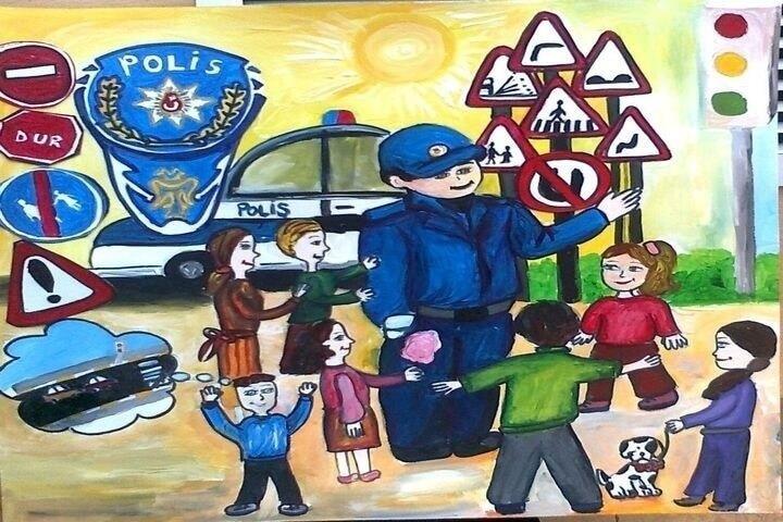 Polislik Mesleği İle İlgili Boyama
