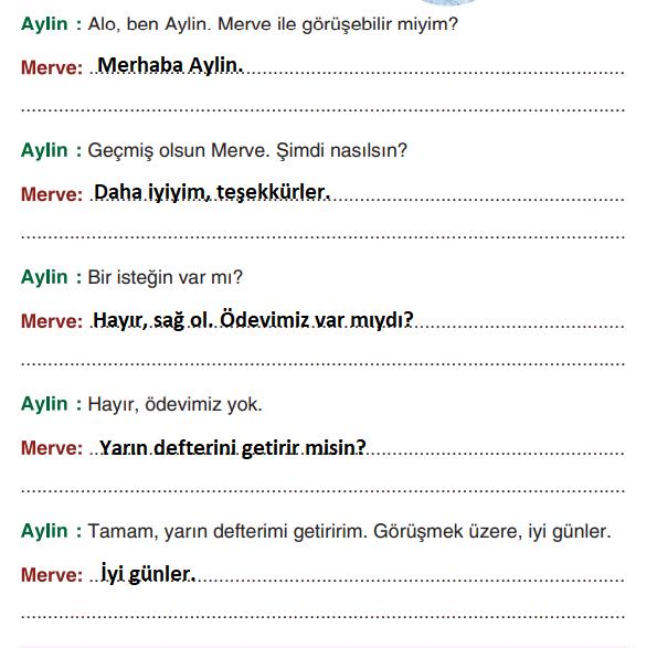 3. Sınıf Türkçe Ders Kitabı Sonuç Yayınları Sayfa 269 Ders Kitabı Cevapları