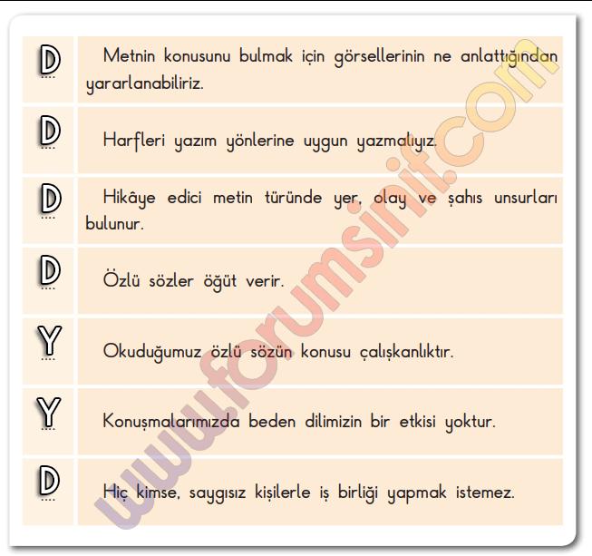3. Sınıf Türkçe SDR Dikey Yayıncılık Sayfa 36 Ders Kitabı Cevapları