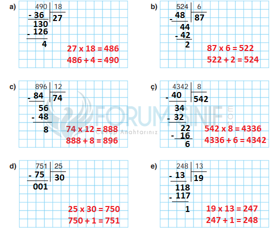 4. Sınıf Matematik Ders Kitabı ATA Yayıncılık Sayfa 107 Ders Kitabı Cevapları