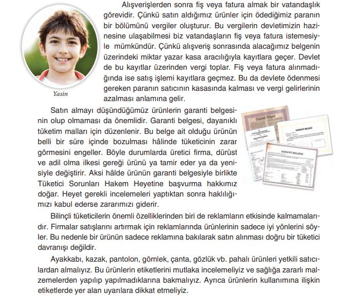 4. Sınıf Sosyal Bilgiler TUNA Yayınları Sayfa 136 Ders Kitabı Cevapları