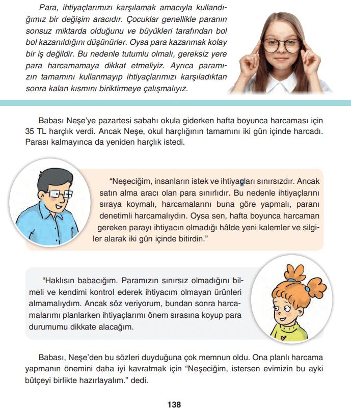 4. Sınıf Sosyal Bilgiler TUNA Yayınları Sayfa 138 Ders Kitabı Cevapları