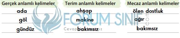 4. Sınıf Türkçe Ders Kitabı KOZA Yayıncılık Sayfa 105 Ders Kitabı Cevapları