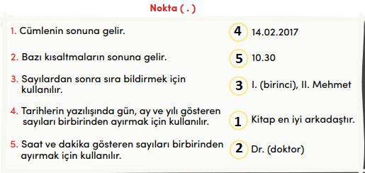 4. Sınıf Türkçe Ders Kitabı MEB Yayınları Sayfa 14 Ders Kitabı Cevapları