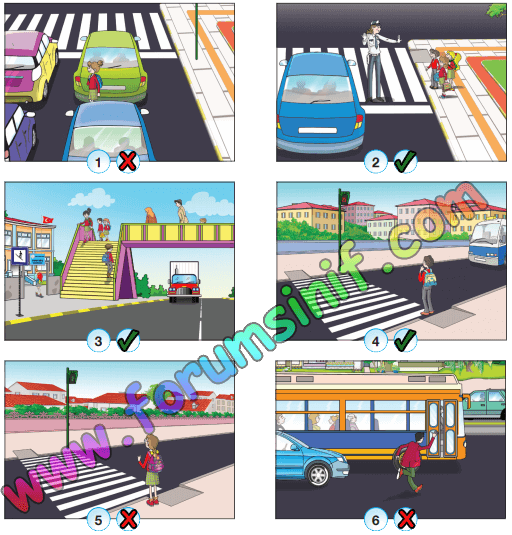4. Sınıf Trafik Güvenliği CEM Ofset Yayınları Sayfa 25 Ders Kitabı Cevapları