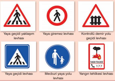 4. Sınıf Trafik Güvenliği Semih Ofset SEK Yayınları Sayfa 16 Ders Kitabı Cevapları