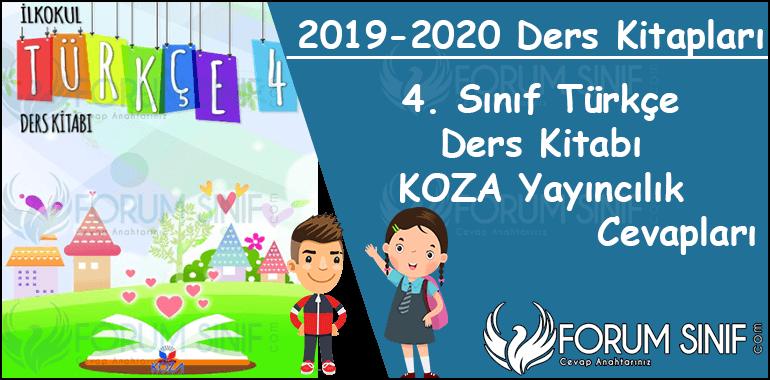 4. Sınıf Türkçe Ders Kitabı Cevapları KOZA