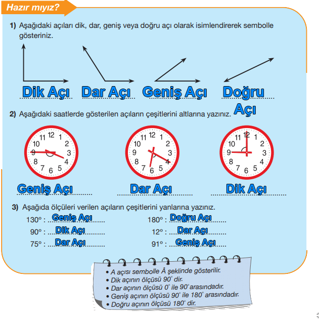5. Sınıf Matematik MEB Yayınları Sayfa 212 Ders Kitabı Cevapları