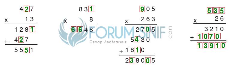 5. Sınıf Matematik SDR Dikey Yayıncılık Sayfa 77 Ders Kitabı Cevapları çarpma işlemi