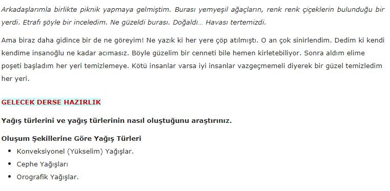 5. Sınıf Türkçe MEB Yayınları Sayfa 233 Ders Kitabı Cevapları