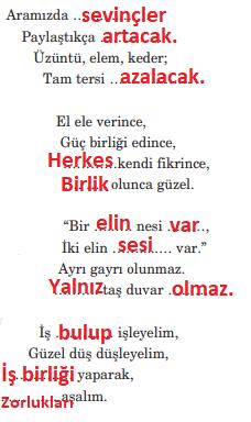 5. Sınıf Türkçe Ders Kitabı Anıttepe Yayıncılık Sayfa 212 Ders Kitabı Cevapları
