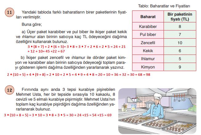 6. Sınıf Matematik Ders Kitabı Öğün Yayınları Sayfa 28 Ders Kitabı Cevapları
