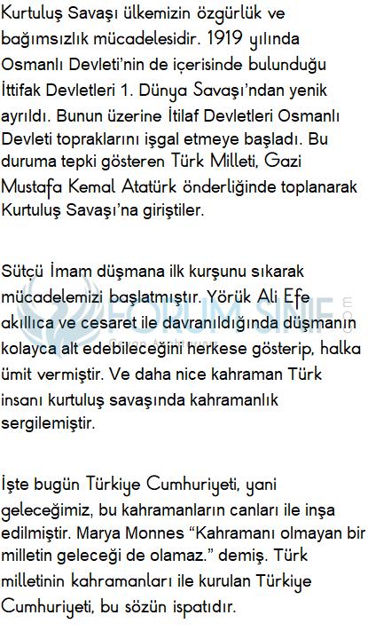 6. Sınıf Türkçe Ders Kitabı Ekoyay Yayınları Sayfa 67 Ders Kitabı Cevapları