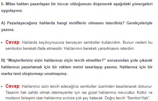 6. Sınıf Türkçe MEB Yayınları Sayfa 201 Ders Kitabı Cevapları