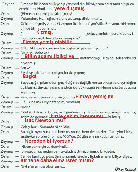 6. Sınıf Türkçe Ders Kitabı Ekoyay Yayınları Sayfa 201 Ders Kitabı Cevapları