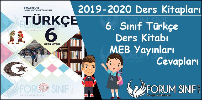 6. Sinif Turkce Ders Kitabi MEB Yayinlari Cevaplari