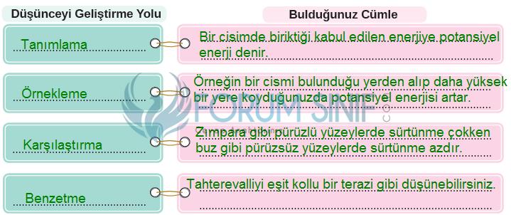 8. Sınıf Türkçe Ders Kitabı MEB Yayınları Sayfa 101 Ders Kitabı Cevapları