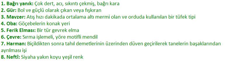 8. Sınıf Türkçe Ders Kitabı MEB Yayınları Sayfa 158 Ders Kitabı Cevapları
