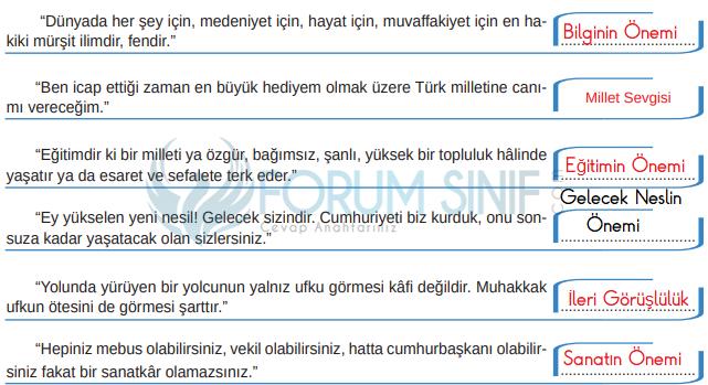 8. Sınıf Türkçe Ders Kitabı MEB Yayınları Sayfa 58 Ders Kitabı Cevapları