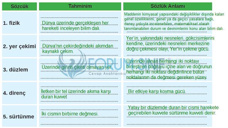 8. Sınıf Türkçe Ders Kitabı MEB Yayınları Sayfa 99 Ders Kitabı Cevapları