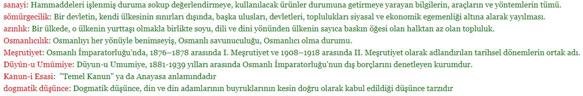 8. Sınıf T.C. İnkılap Tarihi ve Atatürkçülük MEB Yayınları Sayfa 15 Ders Kitabı Cevapları