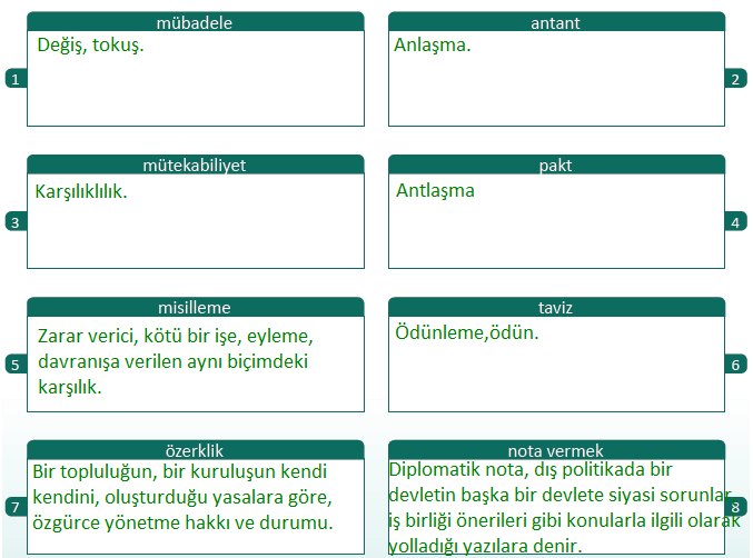 8. Sınıf T.C. İnkılap Tarihi ve Atatürkçülük MEB Yayınları Sayfa 153 Ders Kitabı Cevapları