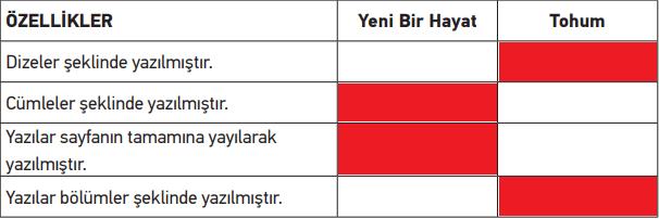 2. Sınıf Türkçe MEB Yayınları Sayfa 10 Telafi Kitabı Cevapları