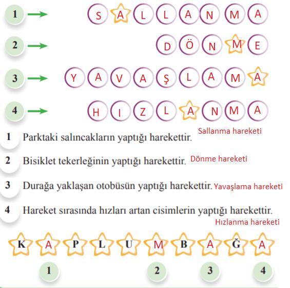 3. Sınıf Fen Bilimleri Anka Yayınevi Sayfa 52 Ders Kitabı Cevapları