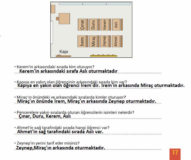 3. Sınıf Hayat Bilgisi MEB Yayınları Sayfa 17 Çalışma Kitabı Cevapları