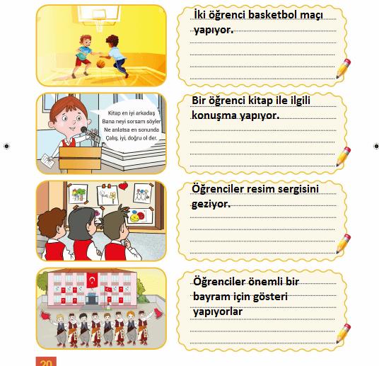 3. Sınıf Hayat Bilgisi MEB Yayınları Sayfa 20 Çalışma Kitabı Cevapları