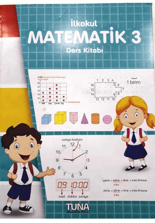 3. Sınıf Matematik Ders Kitabı Cevapları TUNA Yayınları