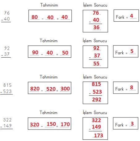 3. Sınıf Matematik MEB Yayınları Sayfa 77 Ders Kitabı Cevapları