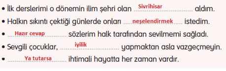 3. Sınıf Türkçe Gizem Yayıncılık Sayfa 108 Ders Kitabı Cevaplar