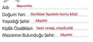 3. Sınıf Türkçe Gizem Yayıncılık Sayfa 108 Ders Kitabı Cevaplar3