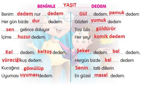 3. Sınıf Türkçe Gizem Yayıncılık Sayfa 110 Ders Kitabı Cevaplar2