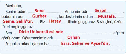 3. Sınıf Türkçe Gizem Yayıncılık Sayfa 112 Ders Kitabı Cevaplar