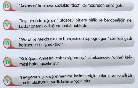 3. Sınıf Türkçe Gizem Yayıncılık Sayfa 39 Ders Kitabı Cevaplar