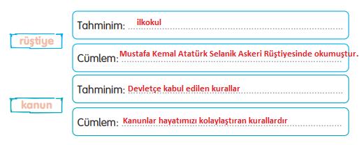 3. Sınıf Türkçe Gizem Yayıncılık Sayfa 60 Ders Kitabı Cevapları