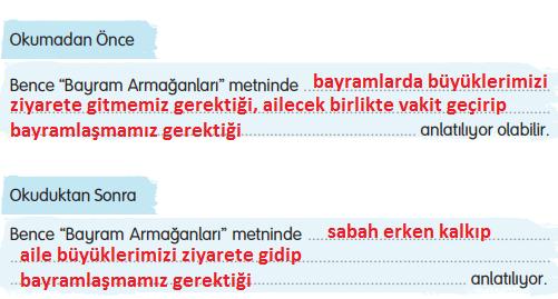 3. Sınıf Türkçe Gizem Yayıncılık Sayfa 92 Ders Kitabı Cevaplar