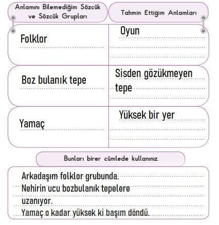 3. Sınıf Türkçe MEB SDR İpekyolu Yayıncılık Sayfa 55. Ders Kitabı Cevapları