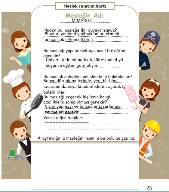 3. Sınıf Türkçe MEB Yayınları Sayfa 23 Ders Kitabı Cevapları