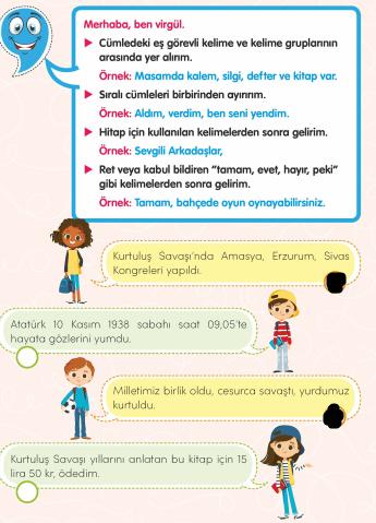 3. Sınıf Türkçe MEB Yayınları Sayfa 50 Çalışma Kitabı Cevapları Çalışma Kitabı