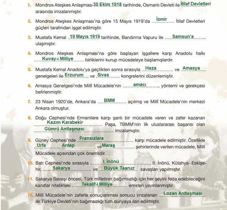 4. Sınıf Sosyal Bilgiler Çalışma Kitabı 35-36. Sayfa Cevapları MEB Yayınları Yardımcı Kaynak