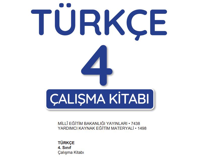4. Sınıf Türkçe Çalışma Kitabı Cevapları MEB Yayınları Yardımcı Kaynak