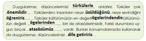 4. Sınıf Türkçe Özgün Yayınları Sayfa 54 Ders Kitabı Cevapları