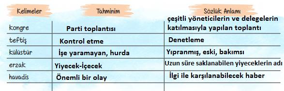 6. Sınıf Türkçe Ders Kitabı ATA Yayınları Sayfa 17 Ders Kitabı Cevapları