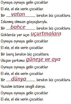 6. Sınıf Türkçe Ders Kitabı ATA Yayınları Sayfa 58 Ders Kitabı Cevapları 1. ETKİNLİK